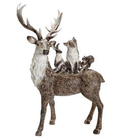 Argos Home Winters Cabin Stag & Friends Objet