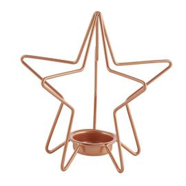 Argos Home Christmas Noir Tealight Holder - Rose Gold