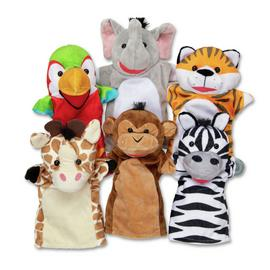 Melissa and Doug Safari Friends Hand Puppets