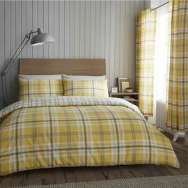 Catherine Lansfield Ochre Kelso Bedding Set - Kingsize