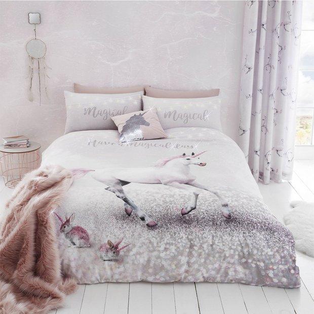Buy Catherine Lansfield Enchanted Unicorn Bedding Set Single