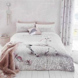 Catherine Lansfield Enchanted Unicorn Bedding Set - Double