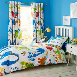 Catherine Lansfield Dino Saw Bedding Set - Single