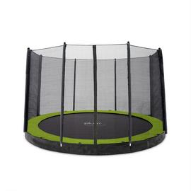 Plum Unisex's 27559 12ft Circular In Ground Trampoline with Enclosure, Black/Yellow, 12 foot Best Price and Cheapest
