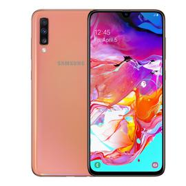 SIM Free Samsung A70 128GB Mobile Phone - Coral