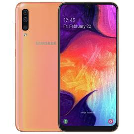 SIM Free Samsung A50 128GB Mobile Phone - Coral