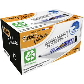 BIC Velleda Dry Wipe Marker Pens - Pack of 12