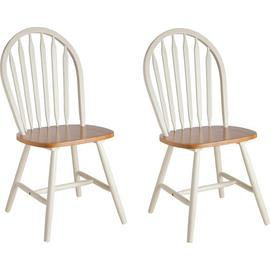 Argos Home Kentucky Pair of Solid Wood Chairs - Two Tone
