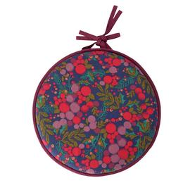 Argos Home Berry Christmas Round Seat Cushion