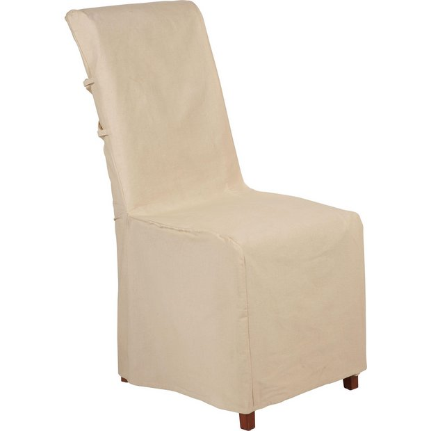 buy home pack of 2 chair covers cream at