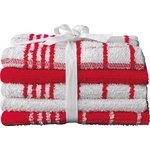 more details on HOME Pack of 5 Terry Tea Towels - Red/White.