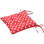 more details on HOME Pack of 2 Seat Pads - Polka Dot Red.