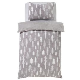 Argos Home Teddy Fleece Trees Bedding Set - Single