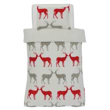 Argos Home Teddy Fleece Reindeer Bedding Set