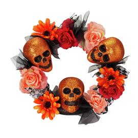 Halloween Floral Door Wreath