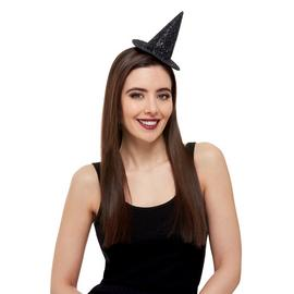 Illusions Halloween Dark Glitter Mini Witch Hat