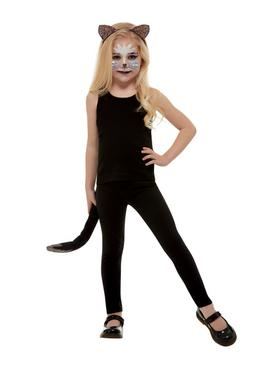 Illusions Halloween Dark Glitter Cat Dress Up Set