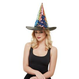 Illusions Halloween Reverse Sequin Witch Hat