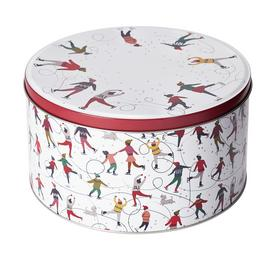 Argos Home Skaters Christmas Cake Tin
