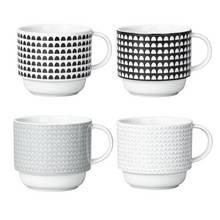 Argos Home Noir Printed Stacking Mugs