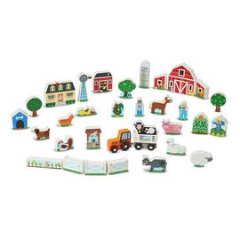 Melissa and Doug Wooden Farm and Tractor Playset
