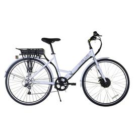 E-Plus New White 27 inch Wheel Size Hybrid Electric Bike