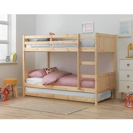 Argos Home Detachable Pine Bunk Bed Frame with Trundle