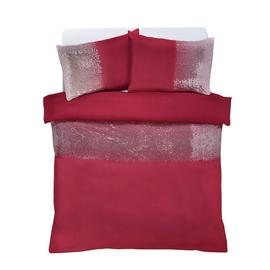 Argos Home Red Ombre Sequin Bedding Set - Double