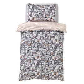 Argos Home Noir Penguin Bedding Set - Single