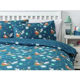 Argos Home Santa in Space Bedding Set - Double