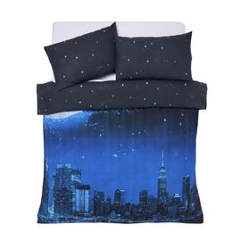 Argos Home NYC Santa Scene Bedding Set - Double
