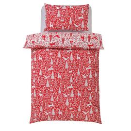 Argos Home Christmas Scene Bedding Set - Single