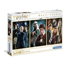 Harry Potter Licensed 3 x 1000 Piece Jigsaw Puzzle