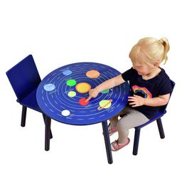 Liberty House Space Kids Table & 2 Chairs - Blue