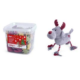 Petface Christmas Dog Reindeer Toy and Dog Treats