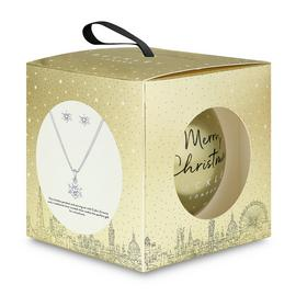 Buckley London Christmas Bauble Earring and Pendant Set