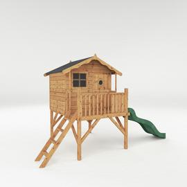 Mercia Tulip Wooden Playhouse with Tower and Slide