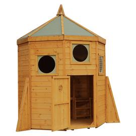 Mercia Double Storey Rocket Wooden Playhouse