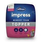 more details on Silentnight 2.5cm Memory Foam Mattress Topper - Double.