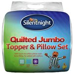 more details on Silentnight Quilted Mattress Topper and Pillow Set - Single.