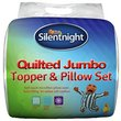 more details on Silentnight Quilted Mattress Topper and Pillows Set - Double