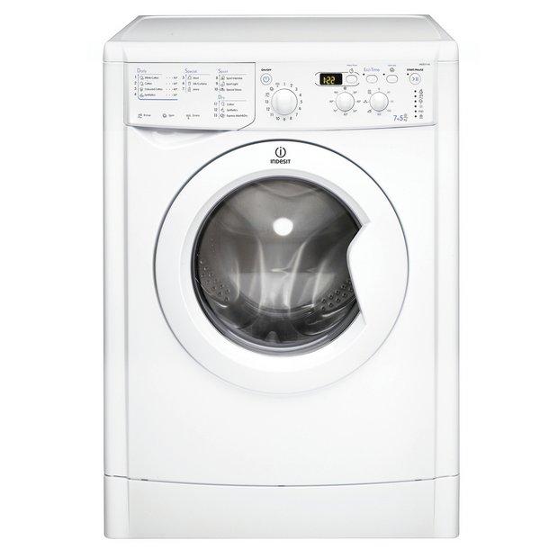 Buy indesit eco time iwdd7143p freestanding washer dryer for Kitchen set argos