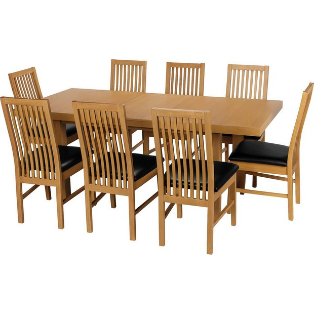 Buy Collection Franklin Ext Dining Table Amp 8 Chairs Oak