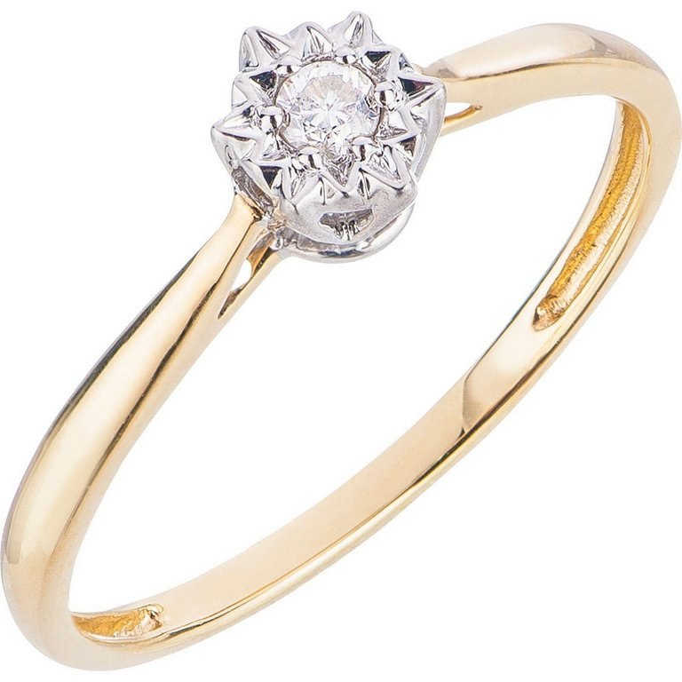 Buy 18ct Gold Diamond Accent Solitaire Ring at Argos Your
