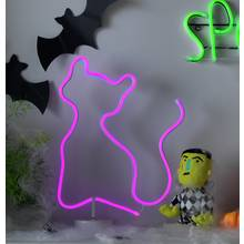 Argos Home Halloween Neon Cat Light