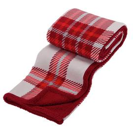 Argos Home Check Sherpa Reversible Throw