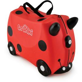 Trunki Harley Ladybug 4 Wheel Hard Ride On Suitcase - Red