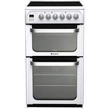Hotpoint HUE52PS Double Electric Cooker - White