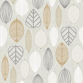 Superfresco Easy Scandi Leaf Copper Wallpaper