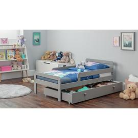Argos Home Ellis Grey Toddler Bed, Drawer & Kids Mattress